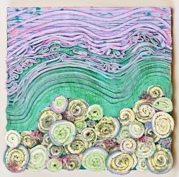 (Snail) Community 3, 12 x 12 x 1 in, oil on panel, 2015