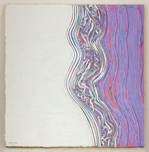 White/Light Purple Striations