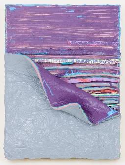 Moody Purple Peel, 12 x 9 x 1.75 in, oil on canvas, 2015