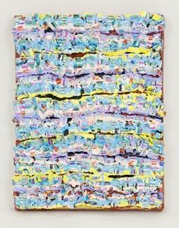 Strata Blocks 1, 8 x 6.25 x 0.5 in., oil on canvas, 2015
