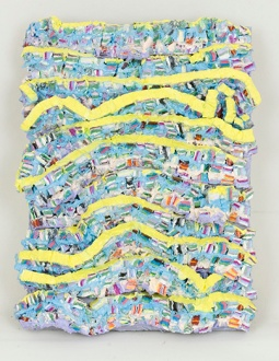 Strata Blocks Wave 3, 7.25 x 5.5 x 1 in., oil on panel, 2016