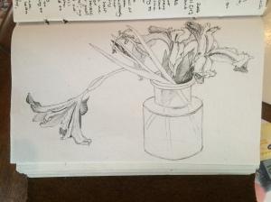 MGF flowers sketch