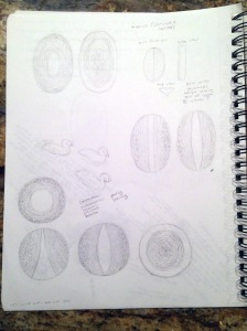 MGF sketches for paintings