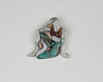 Wearable art inlay pendant